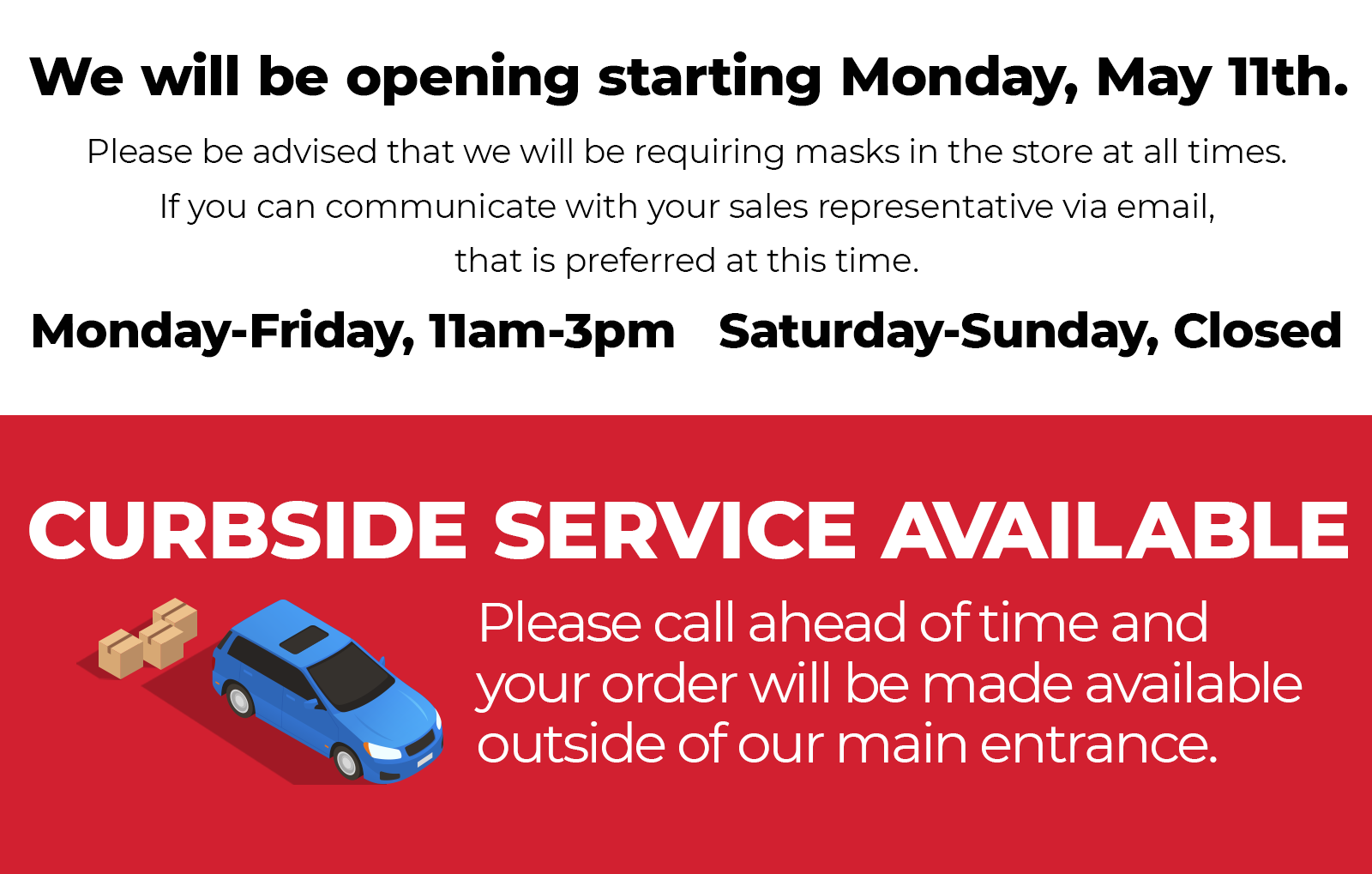 Cassel's is Open